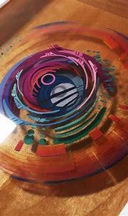 3D Painting: Layered Resin and Acrylic Paint | Epoxy resin ...