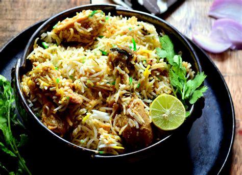 biryani cuisine lucknowi murg biryani awadhi chicken biryani recipe by