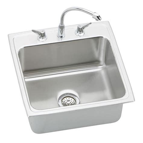 1 basin kitchen sink elkay dlh222210c lustertone deep package single basin