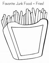 Junk Coloring Fries Favorite Printable Template Colouring Colornimbus Tags Sketch sketch template