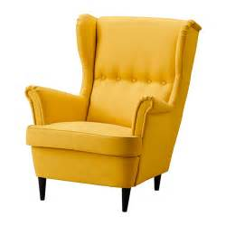 slipper chair cover strandmon wing chair skiftebo yellow ikea