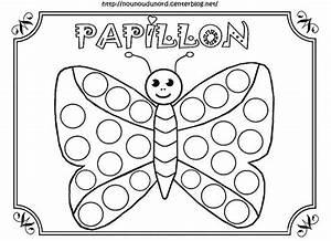 Dessin Facile Papillon : papillon coloriage pour gommettes en couleur ~ Melissatoandfro.com Idées de Décoration