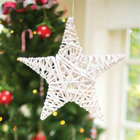 wicker star decoration twinkle pinterest christmas