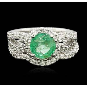 jewelry auction two stunning emerald rings seized With wedding ring auction
