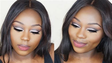 glitter cut crease makeup tutorial  hooded