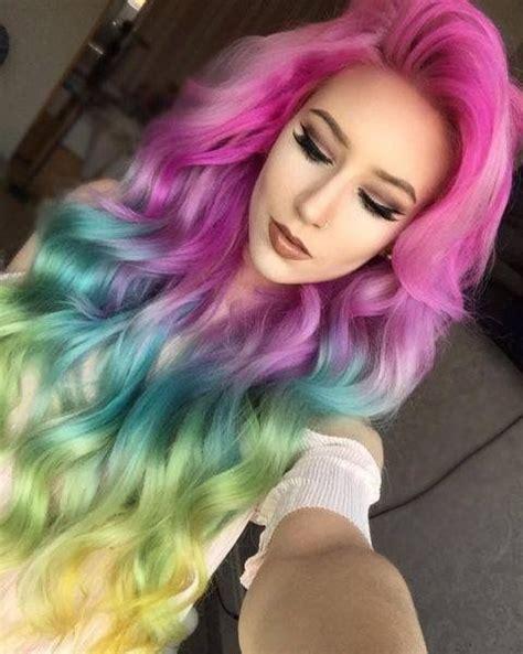 Best 25 Pastel Rainbow Hair Ideas On Pinterest Mermaid