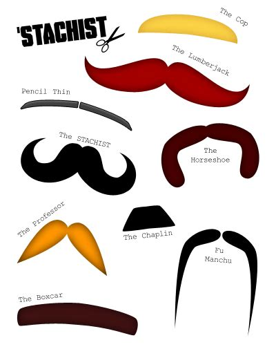 Mustache Print Out Template by Moustache Outline Template Clipart Best
