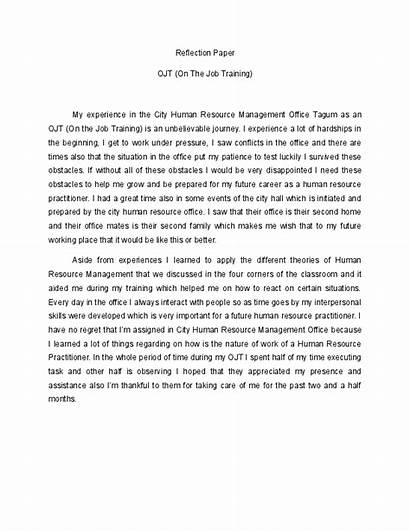 Reflection Example Essay Course Reflective Class Attachment
