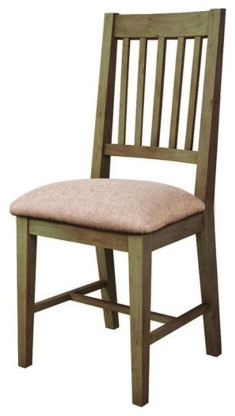 grate back dining chair pine wood with cushion