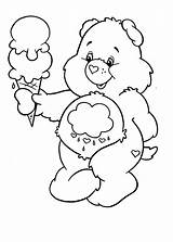 Ice Cream Coloring Pages Care Bears Bear Melting Drawing Colouring Sheets Tocolor Printable Place Getdrawings Drawings Children Books sketch template