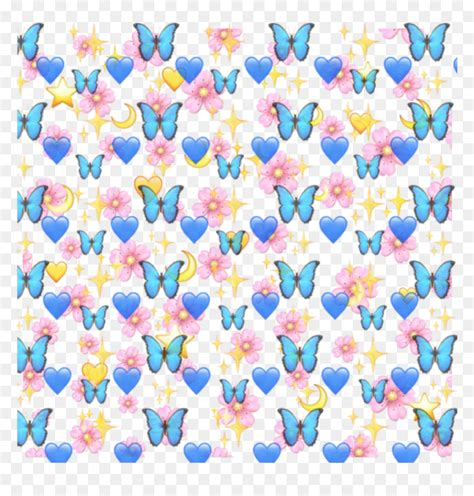 aesthetic butterfly emoji background hd png  vhv