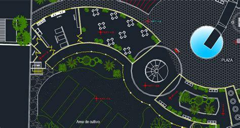 center ecological training  park  dwg design full