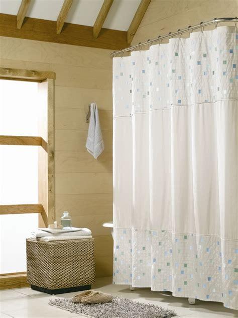 neutral beige blue mosaic tile fabric shower curtain ebay