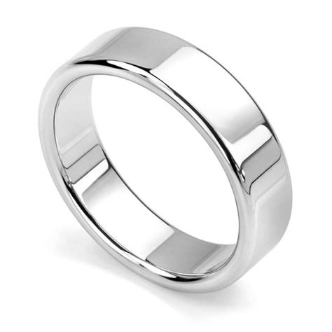 rounded flat wedding ring