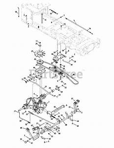 Cub Cadet Parts On The Drive System Diagram For Sltx 1054  13wk92ak010