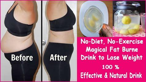 magical fat burner drink  lose weightno diet