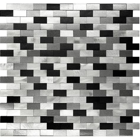 black white grey backsplash 3d metal aluminum black white gray mosaic kitchen backsplash tile modern mosaic tile by