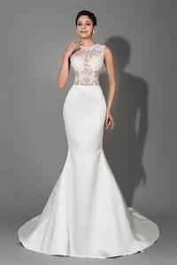 custom mermaid sexy white long bridal dresses stretch With sexy white wedding dresses