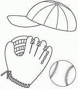 Coloring Baseball Sports Balls Ball Glove Cap Pages Hat Printable Stuff Sport Softball 86ef Rugby Drawing Bigactivities Father Pich Fast sketch template