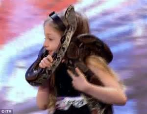 Britain's Got Talent 2011: Olivia Pinfield's boa ...