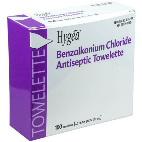 PDI Benzalkonium (BZK) Chloride Antiseptic Wipes, Box of