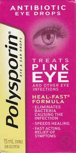 polysporin antibiotic eye drops treats pink eye  ml