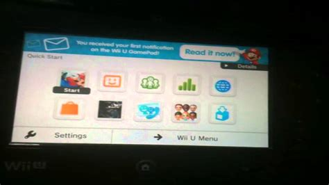 Wii U Quick Start Menu Demonstration (wiiu System Update 5