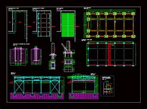 Lighting Gantry Industrial Hangar In Autocad Download Cad Free 216 59