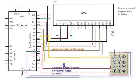 alphanumeric keypad  arduino microcontroller projects
