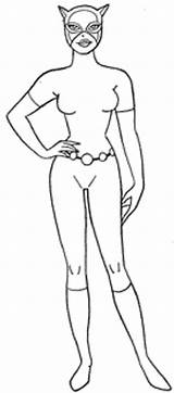 Catwoman Coloring Batman Printable Pages Selina Kyle Drawings Sheets Superhero Colouring Cartoon Character Dc Cartoons Bestcoloring Books sketch template