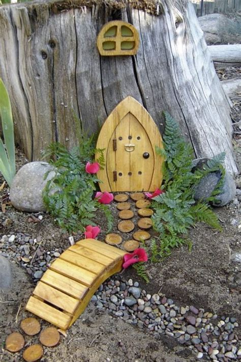 tree stump fairy gardens   bring magic   life