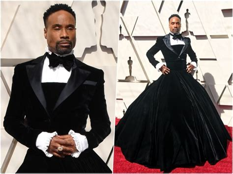 Photos Actor Billy Porter Wears Tuxedo Dress The Oscars