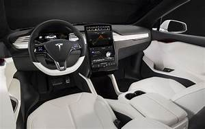 Tesla Model S interior - 216 miles per charge, 110 mph top cruise speed, and less than $100,000 ...