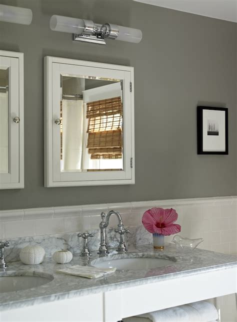 Gray Bathroom Vanity  Cottage  Bathroom  Wick Design