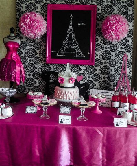paris party ideas  pinterest paris themed