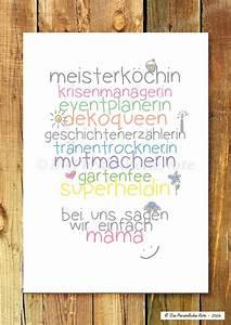 Geburtstagsgeschenk Für Mutter : originaldruck druck print f r mama nicht nur zum muttertag ein designerst ck von ~ Orissabook.com Haus und Dekorationen
