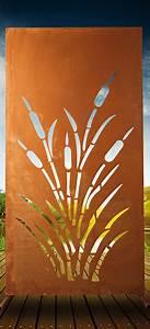 Sichtschutz Metall Preise : garten im quadrat moderne sichtschutz wand schilf garten terrasse metall in rost optik ~ Orissabook.com Haus und Dekorationen