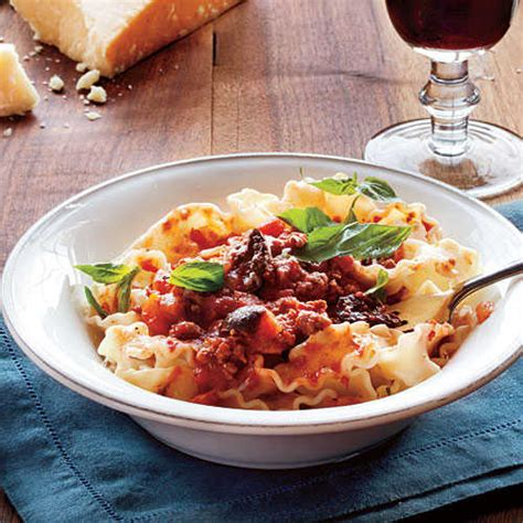 cooking light slow cooker recipes slow simmered meat sauce with pasta summer slow cooker