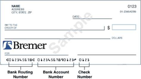 Bremer Bank Routing Numbers Wiring Instructions