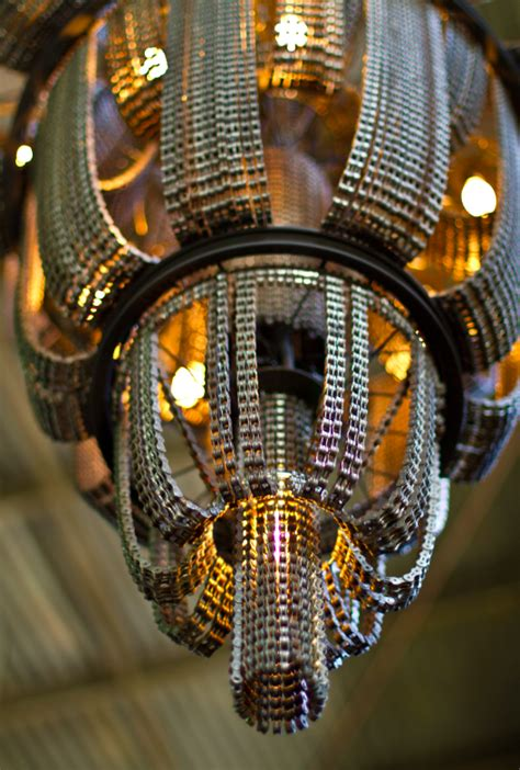 chain bike recycled bicycle chandelier reuse upcycling connect crossley hanging cool chandeliers alan parts custom dazzling trashed