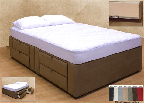 bed with mattress 8 drawer platform bed storage mattress box