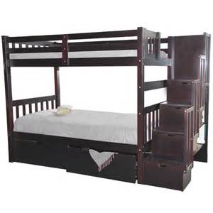 Sofa Bed Mattress Support Board by Wynn Bunk Bed Twin Stairway Espresso Bunk Beds Stairs