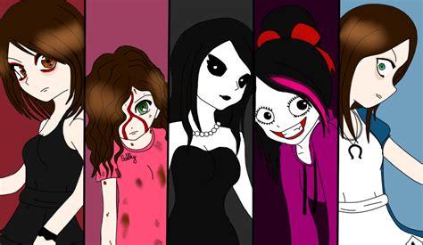 Creepy Pasta Girls By Rowancreepies On Deviantart