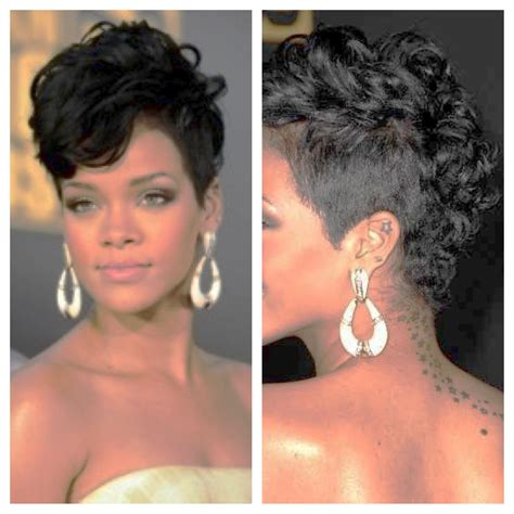 rihanna mohawk hairstyles from the back www pixshark