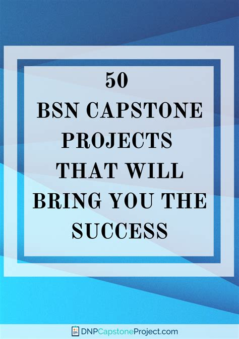 bsn capstone project ideas   place