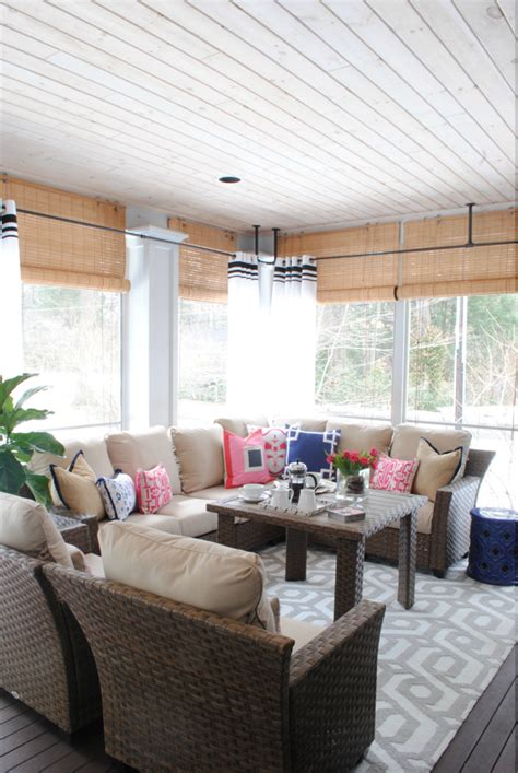 How To Decorate A Screened Porch by Screened In Porch Decorating Ideas For All Seasons