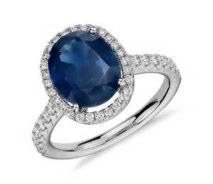 where to sell an engagement ring oval sapphire and halo micropavé ring in 18k white gold 10x8mm blue nile