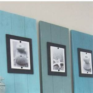 Wood plank wall art beach decor! For the Home