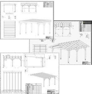 Baupläne Bauplan Carport Terrassendach Überdachung