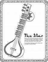 Sitar Sketch Coloring Instruments Musical Drawing Pages Colouring Printable Worksheets Worksheet Toes Activities Drawings Tag Tapping Printables sketch template